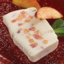 Frozen Mascarpone Torte with Ice Wine Infused Peaches