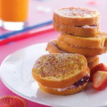 Ricotta & Strawberry Stuffed French Toast
