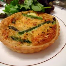 Asparagus and Parmesan Quiche
