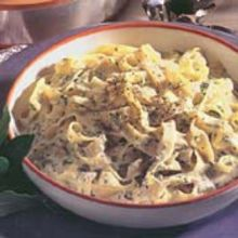 Fettuccine Alfredo  -- Fettuccine with Cheese and Cream