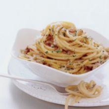 Spaghetti alla Carbonara -- Spaghetti Charcoal Makers Style