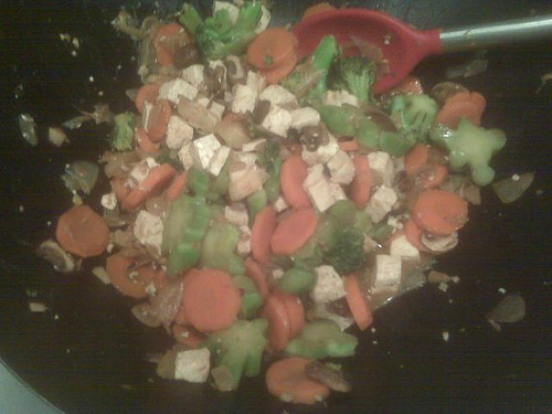 Broccoli, Carrot, Tofu Stir Fry