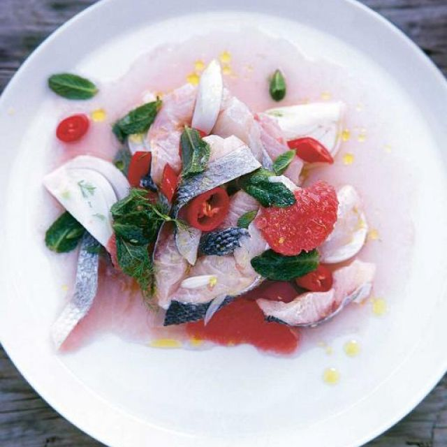 Sea Bass, Fennel and Grapefruit Ceviche