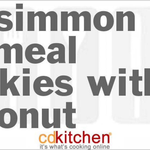 Persimmon Oatmeal Cookies with Coconut
