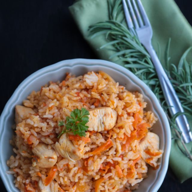 Ukrainian Chicken Plov (Rice Pilaf) - ????