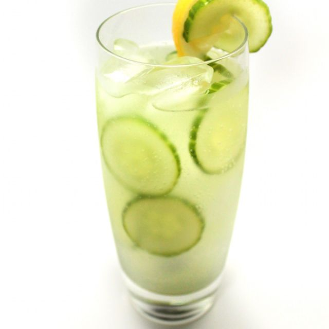 St. Patricks Day Cucumber Cocktail