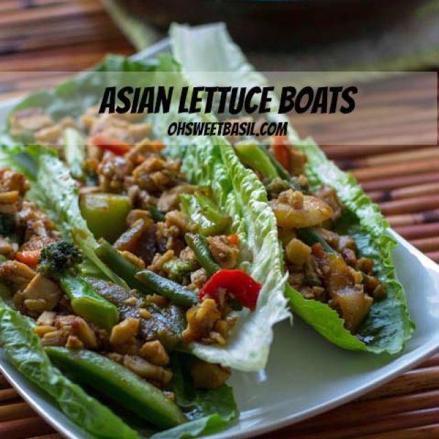 Asian Lettuce Boats