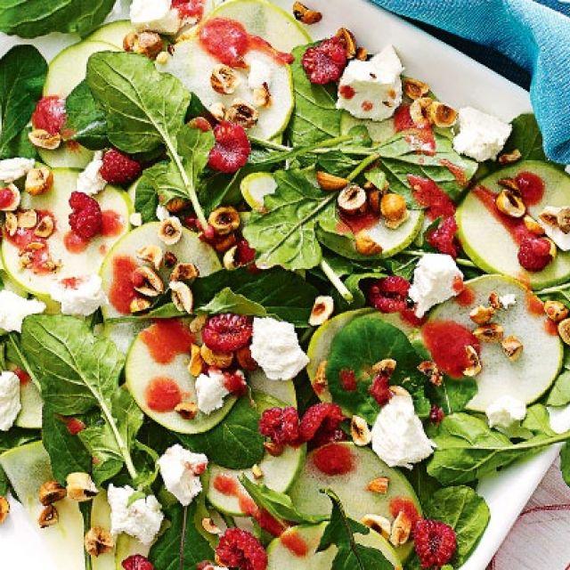 Apple Salad with Raspberry Dressing