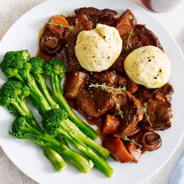 Beef Casserole with Thyme Dumplings