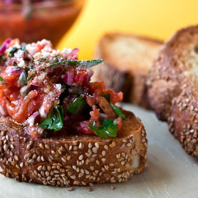 Bruschetta with Tomato Topping