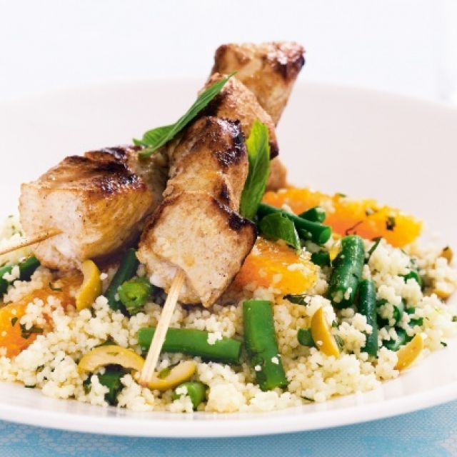 Chicken with Orange, Olive and Green Bean Couscous