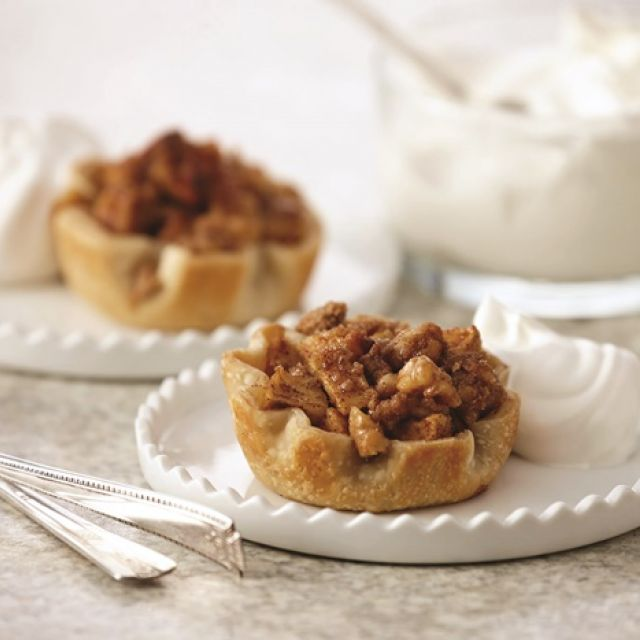 Easy Mini Apple Pies with Vanilla Whip
