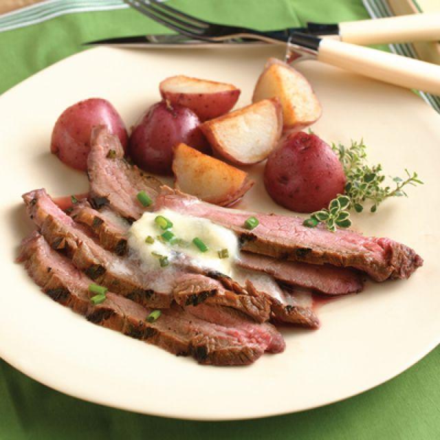 Flank Steak with Horseradish Butter