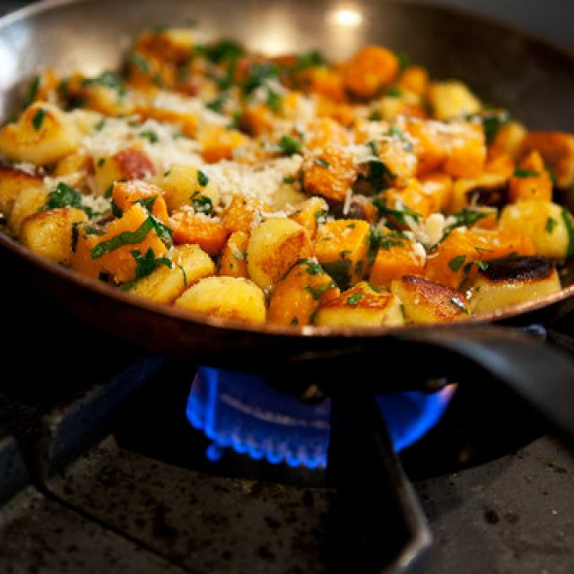 Gnocchi with Spring Vegetables and Basil