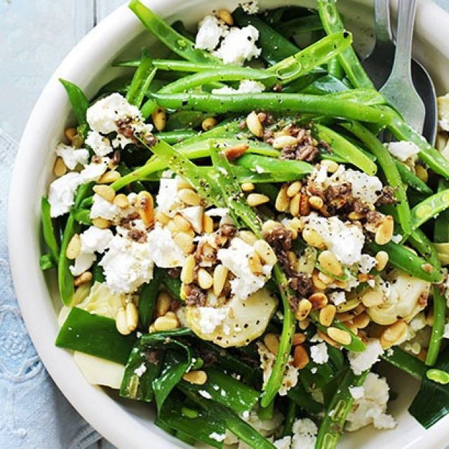 Green Bean and Goat's Cheese Salad