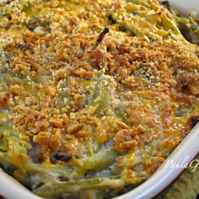 Green Bean Casserole - No Canned Onions Or Soup