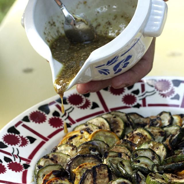 Grilled Vegetables with Za'atar Vinaigrette