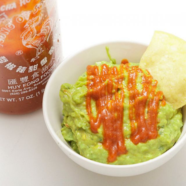 Guacamole with Sriracha