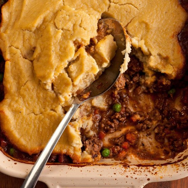Kohlrabi-Topped Shepherd's Pie