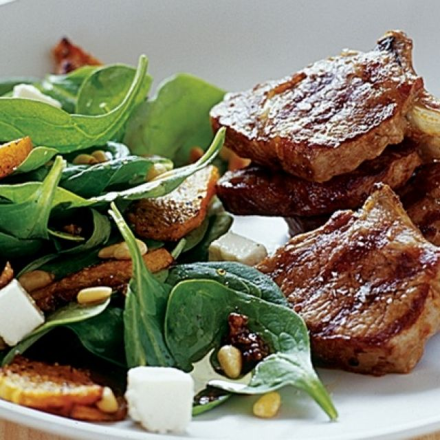 Lamb with Roast Pumpkin Salad
