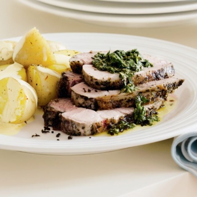 Lamb with Salsa Verde