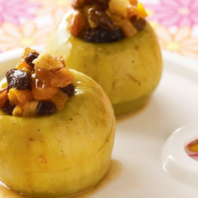 Microwave-Baked Apples