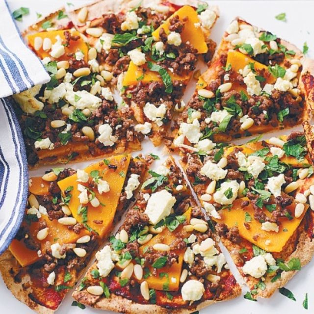 Middle Eastern Spiced Lamb Pizza