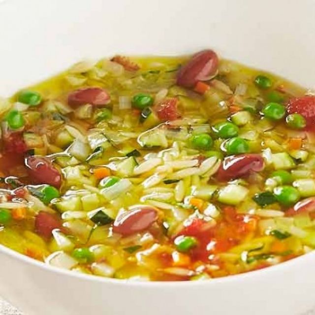 Minestrone Soup with Orzo Pasta
