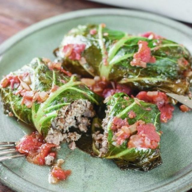 Lamb-Stuffed Collard Greens from 'the New Southern Table'