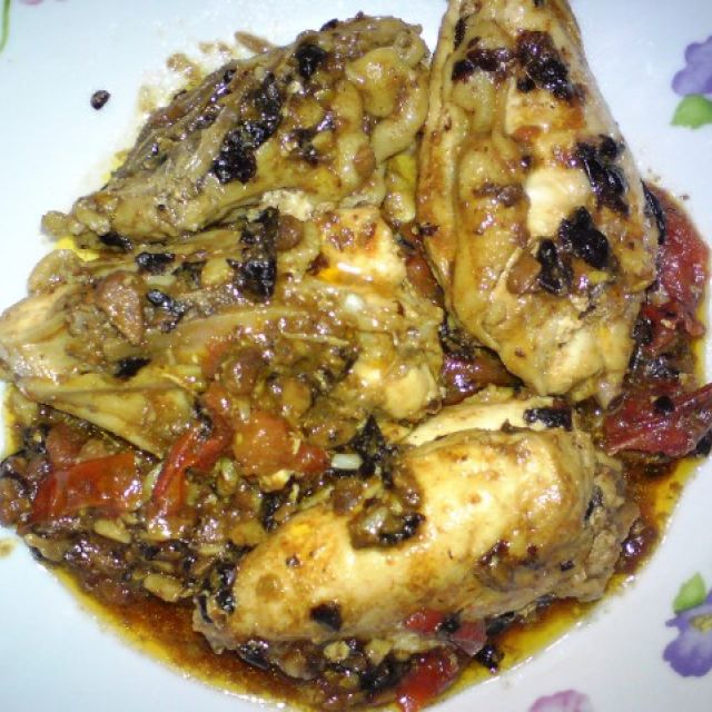 Stir-Fried Chicken and Tomatoes with Black Beans