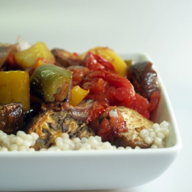 Grilled Vegetables over Couscous