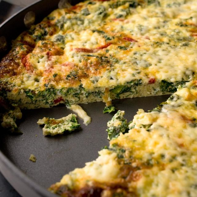 Kale and Roasted Red Pepper Frittata
