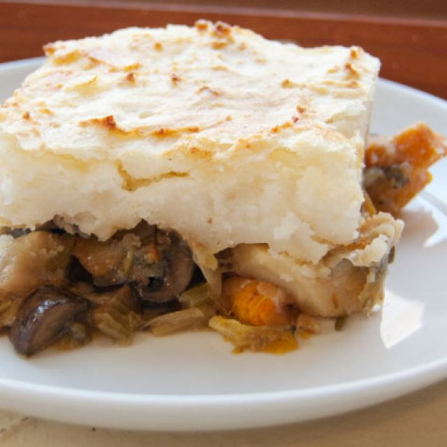 Mushroom and Root Vegetable Shepherd's Pie