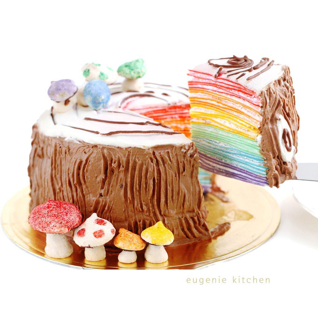 Rainbow Mille Crepe Cake Recipe