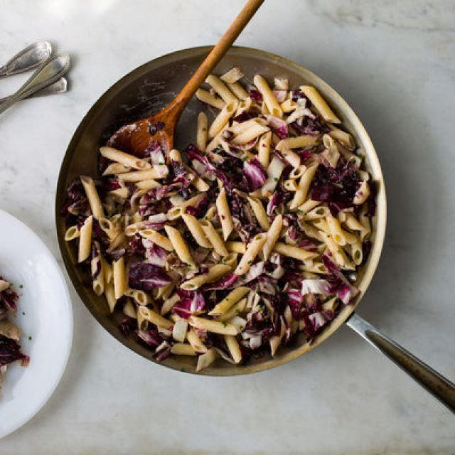 Penne with Radicchio and Goat Cheese