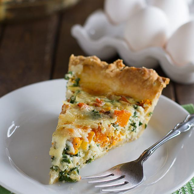 Quiche  with Butternut Squash and Kale