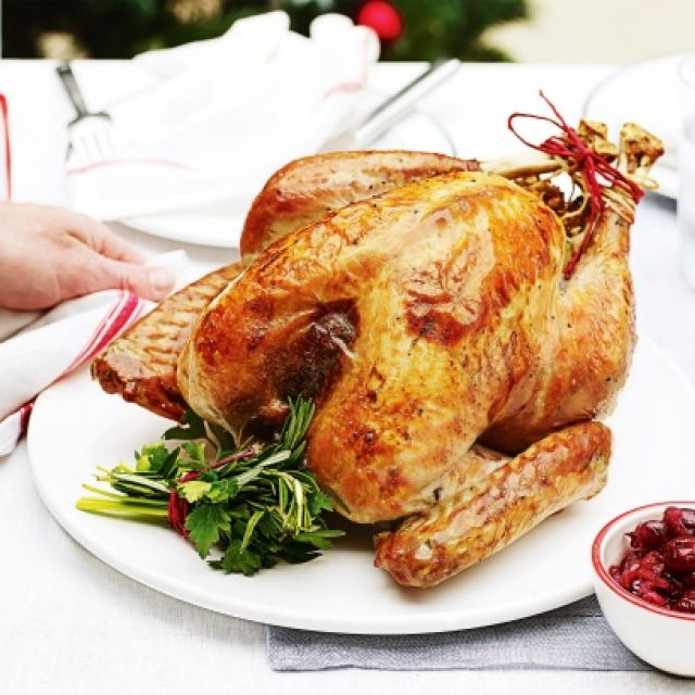 Roast Turkey with Pancetta Stuffing