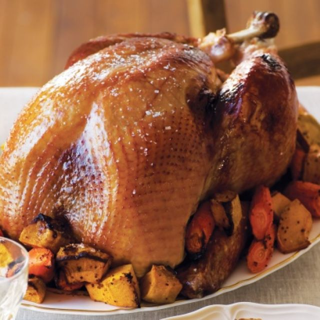 Roast Turkey with Sage and Walnut Stuffing with Gravy