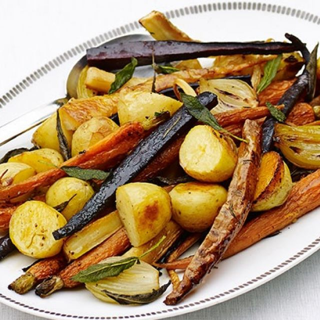 Roast Vegetables with Sage Butter