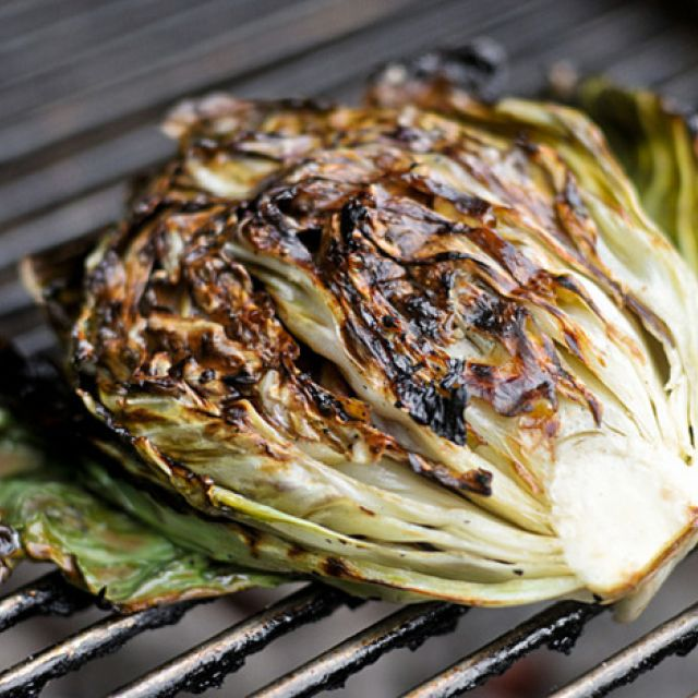 Salad with Grilled Radicchio and Knob Onions