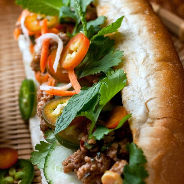Shortcut Banh Mi with Pickled Carrots and Daikon