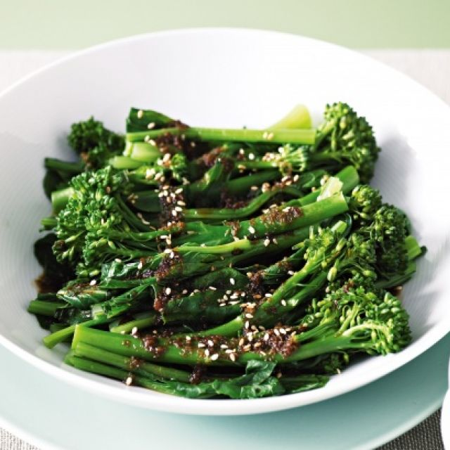 Steamed Asian Greens with Honey Soy Sauce