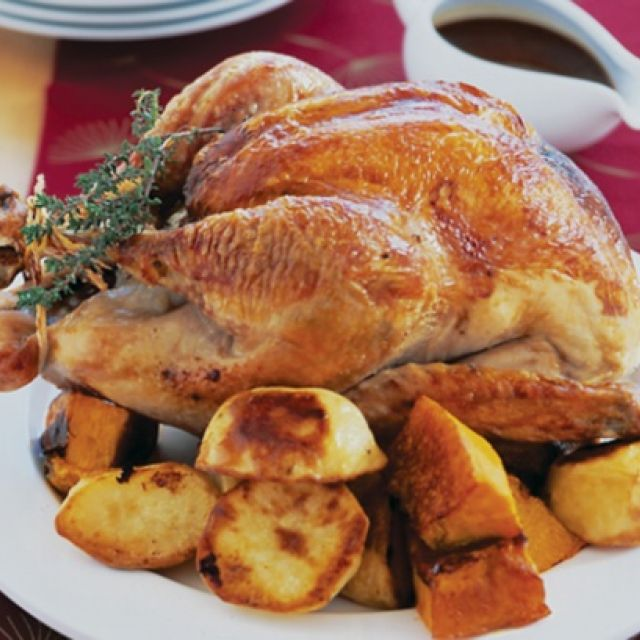 Turkey with Cranberry and Walnut Stuffing