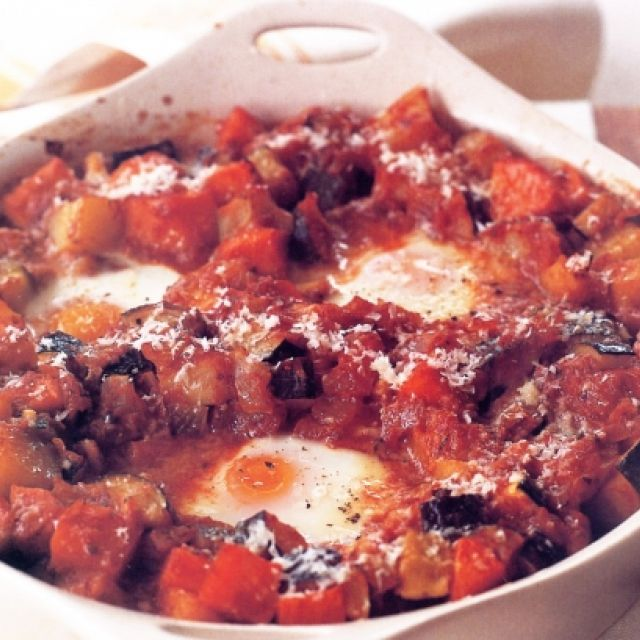 Vegetable Casserole with Simmered Eggs (Vegetarian)