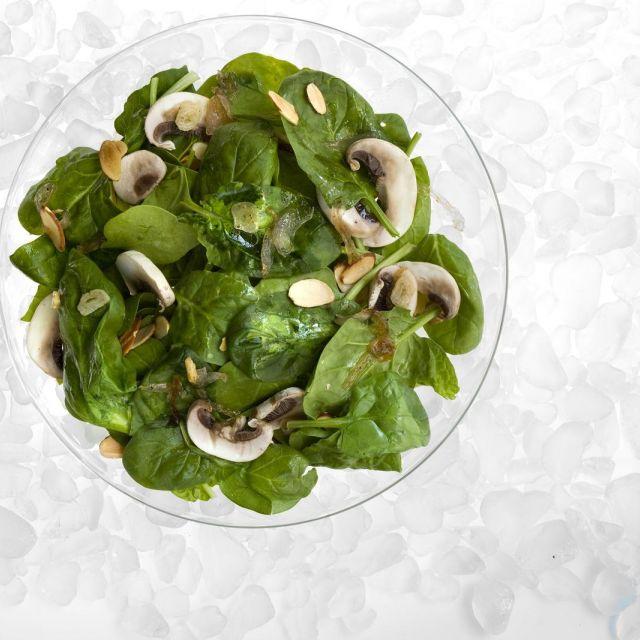 Warm Spinach Salad with Honey-Garlic Vinaigrette