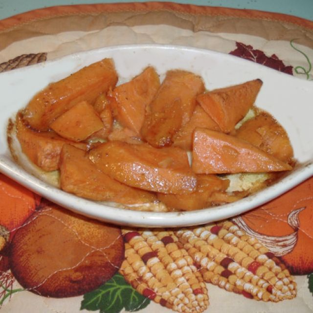 Whiskey (Or Bourbon) Baked Sweet Potatoes (Or Yams)