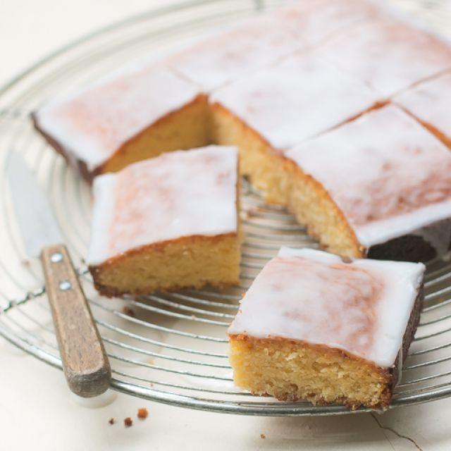 White Chocolate Cake with Lemon Glaze