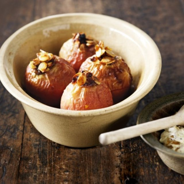 Baked Apples with Burnt Sugar Cream
