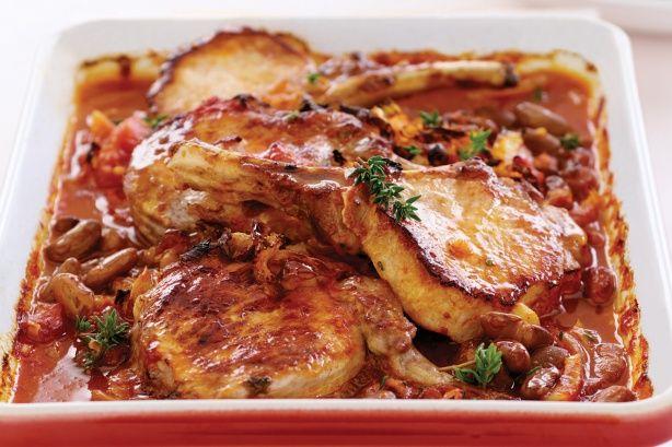Braised Pork with Fennel and Borlotti Beans - Recipe ...