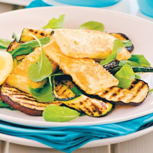 Chargrilled Vegetables with Halloumi
